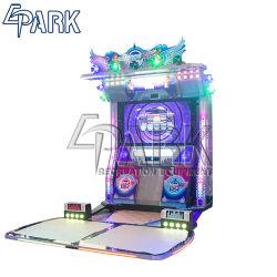Sezione comandi bassa del video gioco della galleria di divertimento di musica di ballo di Danz