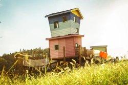 Log Cabin colorés