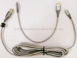 USB vers Micro & 8p Câble de charge de données du câble de la foudre Brancher le fil 30cm+300cm 2à1