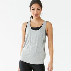 Nouveau style personnalisé Cross Retour coton ordinaire salle de gym Tank Top l'impression des femmes