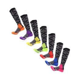 Хлопок ткань из микроволокна нейлоновые Спортивные носки с колесной арки поддержки носки сжатия