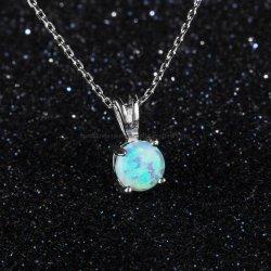 مجوهرات الموضة 925 فضة الاسترليني أو مجوهرات براس أزياء أوبال مجوهرات قلادة من الحجر الواحد