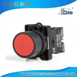 Красный цвет кнопочный выключатель с плоскими для панели управления