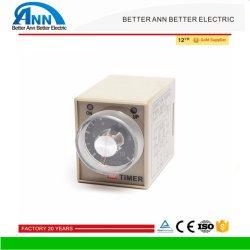 Миниатюрный низкое энергопотребление реле времени Ah3 220 В переменного тока 5 А DC12V-48V AC24V-380V 50Гц