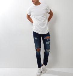 Custom Stonewash striée de gros hommes denim Jeans