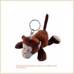 卸し売りカスタマイズされた極度のかわいいうその猿キーホルダーのプラシ天のおもちゃ