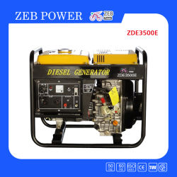 3kVA générateur diesel portable de type ouvert (ZDE3500X/E)