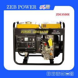 3kVAはタイプ携帯用ディーゼル発電機(ZDE3500X/E)を開く