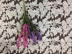 Kleine Blumen-Spitze-Bekleidungszubehör-Milch-Silk Troddel-wasserlösliche Stickerei-Spitze