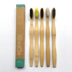 De unieke FDA van de Handvatten van het Bamboe van het Ontwerp Milieuvriendelijke Biologisch afbreekbare Tandenborstel van het Bamboe van het Rapport Biologisch afbreekbare voor Volwassenen