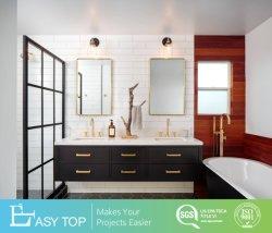 ヨーロッパの旧式な壁に取り付けられた洗面器の浴室の家具の浴室の虚栄心のキャビネット