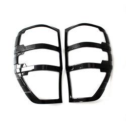 Glanzende Zwarte ABS van de Toebehoren van de Auto van de Bestelwagen van de Dekking van de Staart Lichte voor Boswachter T7 2015 2016 4X4 Toebehoren