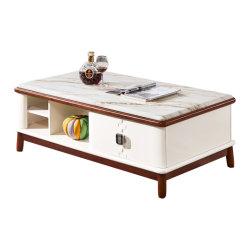 居間のための熱い販売の良質自然な木製の現代デザイナーコーヒーテーブル