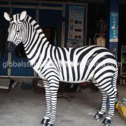 La fábrica de fibra de vidrio personalizado resina Estatua de la escultura de cebra (GSR-102)