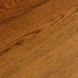 Европейский дуб деревообрабатывающих полом коричневого цвета умножьте жесткого твердого дерева нажмите кнопку плавающего Паркетный пол