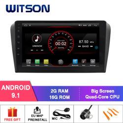 Witson double DIN pour GPS de navigation DVD voiture Mazda 3 (2004-2009)