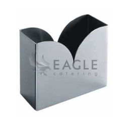 Boîte en acier inoxydable de tissus porte-serviette de table