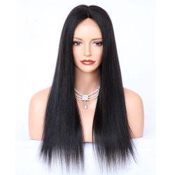 Yaki encaje recto delante de la India pelucas Remy peluca de pelo humano para las mujeres luz negra Yaki Pre