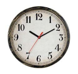 """Ronda 9"""" de estilo europeo de diseño simple reloj de pared de cuarzo Dígito árabe"""