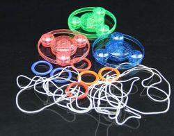 Leuchtende blinkende LED leuchten Zugseil-Spinner-Schwungrad-Spielwaren