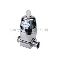 Válvula de diafragma de forja con actuador de acero inoxidable para la industria biológica