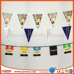 Décoration de vacances de drapeaux Triangle chaîne polyester promotionnel Drapeau Drapeau Drapeau de la publicité papier PVC Bunting