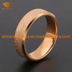 新しいチタニウムのステンレス鋼の無光沢のリングのローズの金の指輪2mm 6mmのステンレス鋼指リングSSR2059
