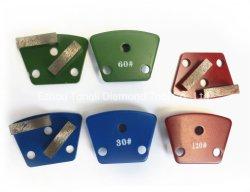 De Concrete Vloer 40X12X12 van de Oppoetsende Stootkussens van het Metaal van de Hulpmiddelen van de diamant