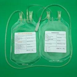 PVC medico di plastica 250ml 350ml 450ml di triplo Cpda1 di buoni prezzi il singolo doppio svuota i sacchetti di raccolta di trasfusione di sangue da vendere