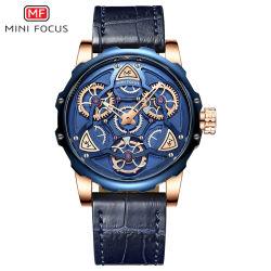 Bande de cuir analogique mini Focus hommes pinte montre-bracelet