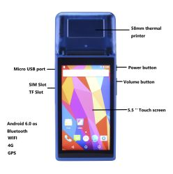 imprimante de tickets de caisse prix d'usine POS avec double écran tactile et Bluetooth WiFi POS Smart pour les restaurants, magasins