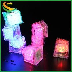 Activação de água LED acenda a luz de Gelo / à prova de água LED piscando cubos de gelo para bar