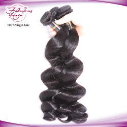 人気のヘアスタイルルーズウェーブヘアナチュラルカラーインディアンレミー生毛の延長