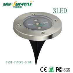Светодиодный индикатор солнечной энергии из нержавеющей стали подземных лампа для использования вне помещений новый добавленный газон сад лампы фонаря