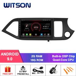 """Witson 9 """" KIAの朝Picanto Rhd 2014年の大きいスクリーンのアンドロイド9.0のカーラジオプレーヤーGPS"""