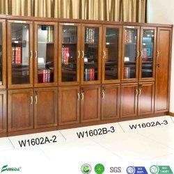 Casellario di vetro classico dei portelli dell'ufficio di legno del MDF dell'ufficio