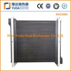Plaque en aluminium fin radiateur du refroidisseur d'huile refroidi par air assy