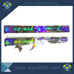 Facile d'endommager l'hologramme Autocollant de sécurité laser