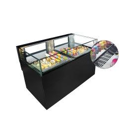 Congelatore della vetrina del cioccolato con il cassetto