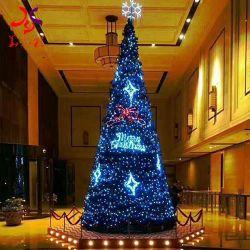 20FT 30FT 40FT 50FT 크리스마스 훈장 LED 빛 상점을%s 가진 거대한 LED 거대한 인공적인 실제적인 크리스마스 나무를 거는 큰 금속 프레임