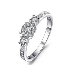 الصانع البيع المباشر مجوهرات 925 Sterling Silver Rings CZ الزفاف النساء