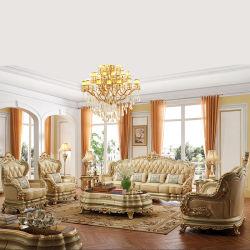 Classic sofá de couro na cama opcional lugares do sofá Foshan fábrica de móveis