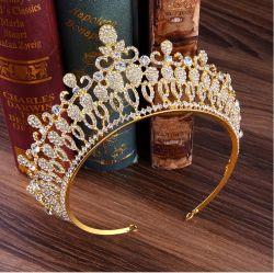 Diadema nuziale di nuovo modo completo di cristallo europeo classico del cerchio
