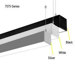 40W~80W 80~90lm/W lineal de la Oficina de la luz colgante moderno Accesorio de iluminación LED Luz lineal aluminio vinculables Negro Plata luces blancas luces colgantes