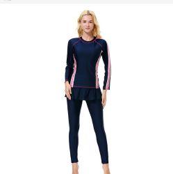 겸손 Lycra Muslim Swimsuit Swimwear 이슬람교 복장 숙녀의 의류