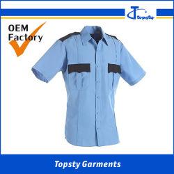 Katoenen van de Overhemden van de Veiligheid van het Werk van de douane Zware Korte Koker Twee van de Keperstof de Overhemden van de Veiligheid van Zakken