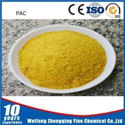 Polvo amarillo de PAC poli cloruro de aluminio de 30%
