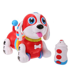 209396 IR RC 지능적인 소시지 개는 춤 걷는 로봇 개에게 전자 애완 동물을 교육 아이 장난감 노래한다