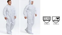 De beschikbare Beschermende Kostuums van het Overtrek van de Boiler van de Veiligheid van het Werk, Microporous Kostuums van de Verf van de Bescherming van de Nevel