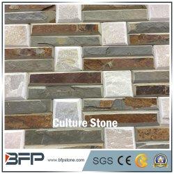 Коническая Slate уступа культуры камня в каменной стене оболочка и шпона